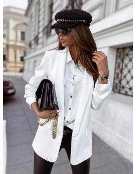 Бяло сако 7/8 ръкав