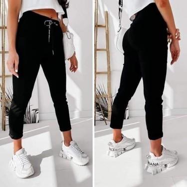 Ефектен панталон с връзки код 521-22