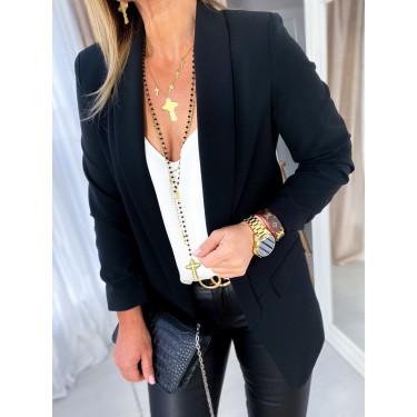 Елегантно дамско сако в черно
